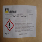 Sulfamic acid packing
